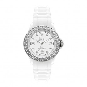 Solde montre ICE WATCH Déstockage montre Ice Watch Stone Silver blanc ornée de diamants SWAROVSKI pas cher
