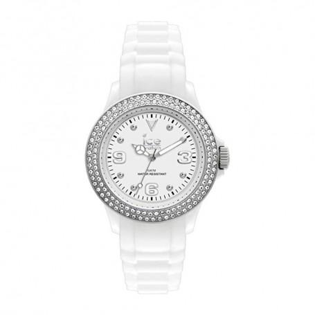 Solde montre ICE WATCH Déstockage montre Ice Watch Stone Silver blanc ornée de diamants SWAROVSKI pas cher