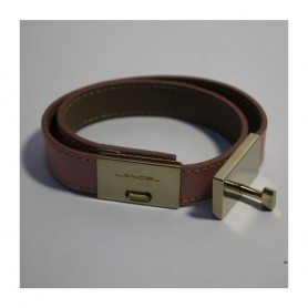 Lancel Bracelet cuir double tour L