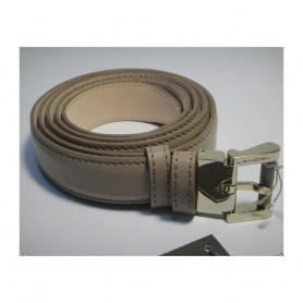 Soldes ceinture ardillon en cuir beige pour femme Joséphine de Lancel
