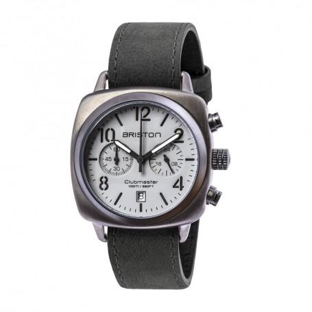 SOLDE BRISTON Déstockage montre chronographe Briston Clubmaster Classic Acier Gun pas cher