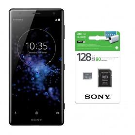 Pack Sony XPERIA XZ2 + carte micro SD 128 Go avec adaptateur