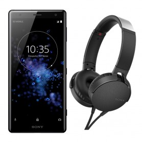 SOLDE SONY. Déstockage pack smartphone Sony XPERIA XZ2 + casque arceau Sony MDR-XB550AP pas cher