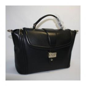 Déstockage Lancel sac à main cuir noir Joséphine Shopper Lancel en soldes