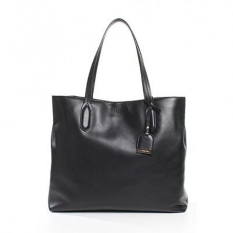 Déstockage Lancel sac femme en cuir noir Shopper Les Rendez-Vous Lancel en soldes