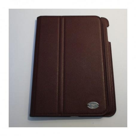 Déstockage étui iPad Mini en cuir grainé bordeaux Remember Me Lancel en soldes