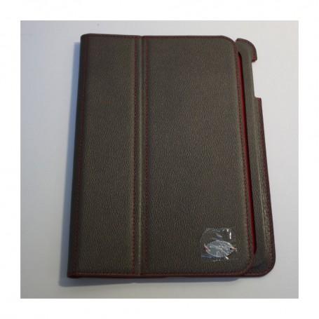 Solde Lancel déstockage étui iPad Mini en cuir grainé gris fumé Remember Me Lancel pas cher
