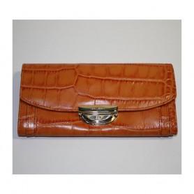 Déstockage Lancel portefeuille femme cuir façon croco Le Compagnon Adjani de Lancel en soldes