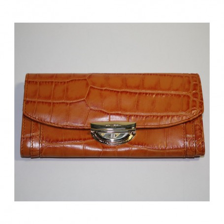Soldes grand portefeuille femme LANCEL portefeuille Le Compagnon Adjani cuir imprimé croco