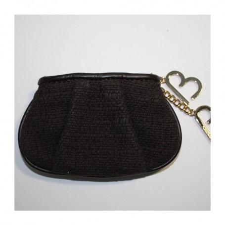 Solde porte monnaie laine noir Brigitte Bardot de Lancel