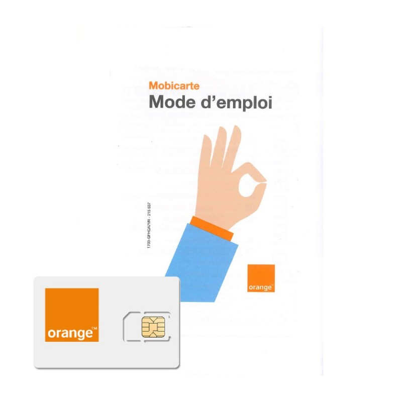 carte sim orange mobicarte Déstockage carte SIM prépayée Orange Mobicarte 5€ de crédit inclus