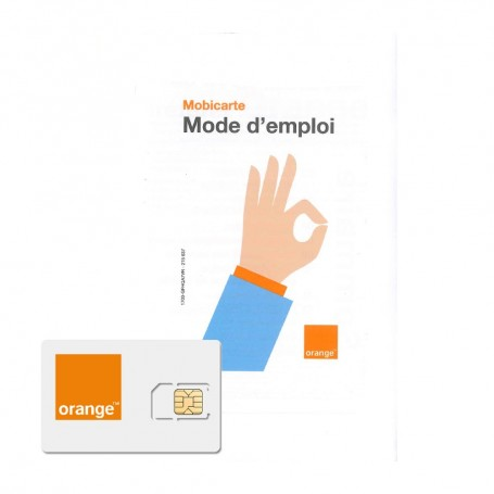 Carte Afrique Orange 15 Euros.Carte Sim Prepayee Orange Mobicarte 5 De Credit De Communication Inclus