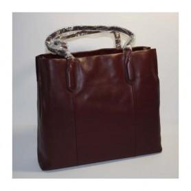 Déstockage Lancel sac femme en cuir rouge Shopper Les Rendez-Vous Lancel en soldes
