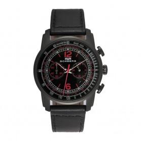 Solde montre homme Bomberg Semper Chronograph Black Red cadran 42 mm en soldes