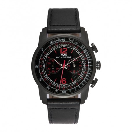 Solde montre homme Bomberg Déstockage montre Bomberg Semper Chronograph Black Red cadran 42 mm pas cher