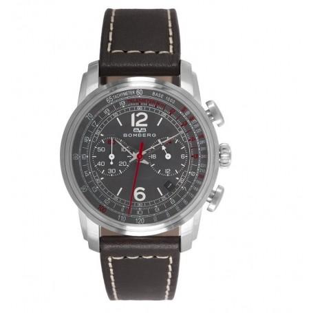 Déstockage montre chronograph homme Bomber Semper Chronograph Grey White cadran 39 mm en soldes