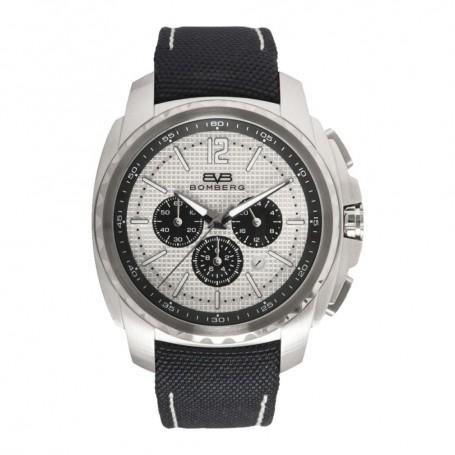 Solde montre chronographe homme Bomberg Maven Chronograph Grey Silver cadran 44 mm en soldes