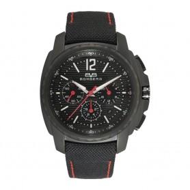 Solde montre chronographe homme Bomberg Maven Chronograph Black Red cadran 44mm en soldes