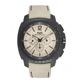 Solde montre chronograph homme Bomberg Maven Chronograph Black Beige cadran 44mm en soldes