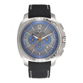 Solde montre homme Bomberg Maven Chronograph Grey Blue Silver cadran 44 mm en soldes