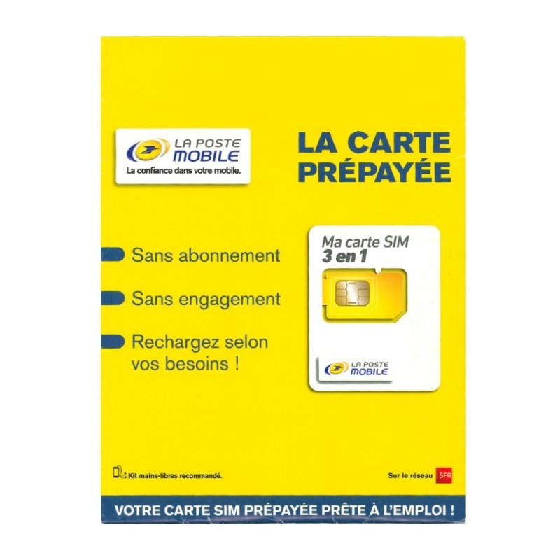 carte sim la poste mobile Déstockage carte SIM prépayée La Poste Mobile 10€ de crédit de