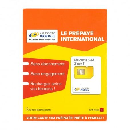 Déstockage carte SIM prépayée La Poste Mobile Internationale en soldes