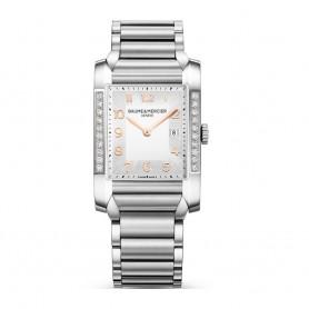 Déstockage Baume & Mercier montre rectangulaire sertie de diamants Baume & Mercier Hampton M0A10023 en soldes