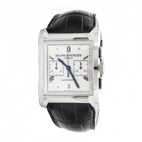 Déstockage montre luxe homme rectangulaire Baume & Mercier Hampton Milleis Automatique M0A10032 en soldes