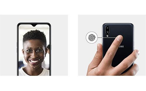 Samsung Galaxy A10s déblocage par lecteur empreinte digitale ou reconnaissance faciale