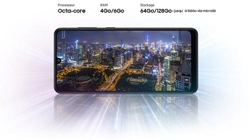 Samsung Galaxy A31 jusqu'à 512Go de stockage via carte microSD