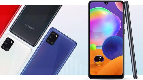 Samsung Galaxy A31 design minimaliste et couleurs prismatiques