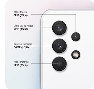 Samsung Galaxy A32 4 capteurs photos 82 MPx