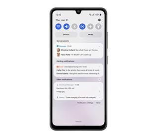 Samsung Galaxy A32 interface samsung One UI