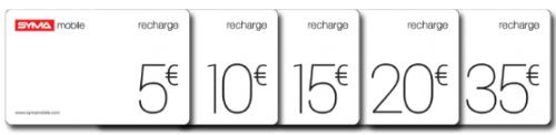 Les cartes prépayées Syma Classique de 5 à 35€